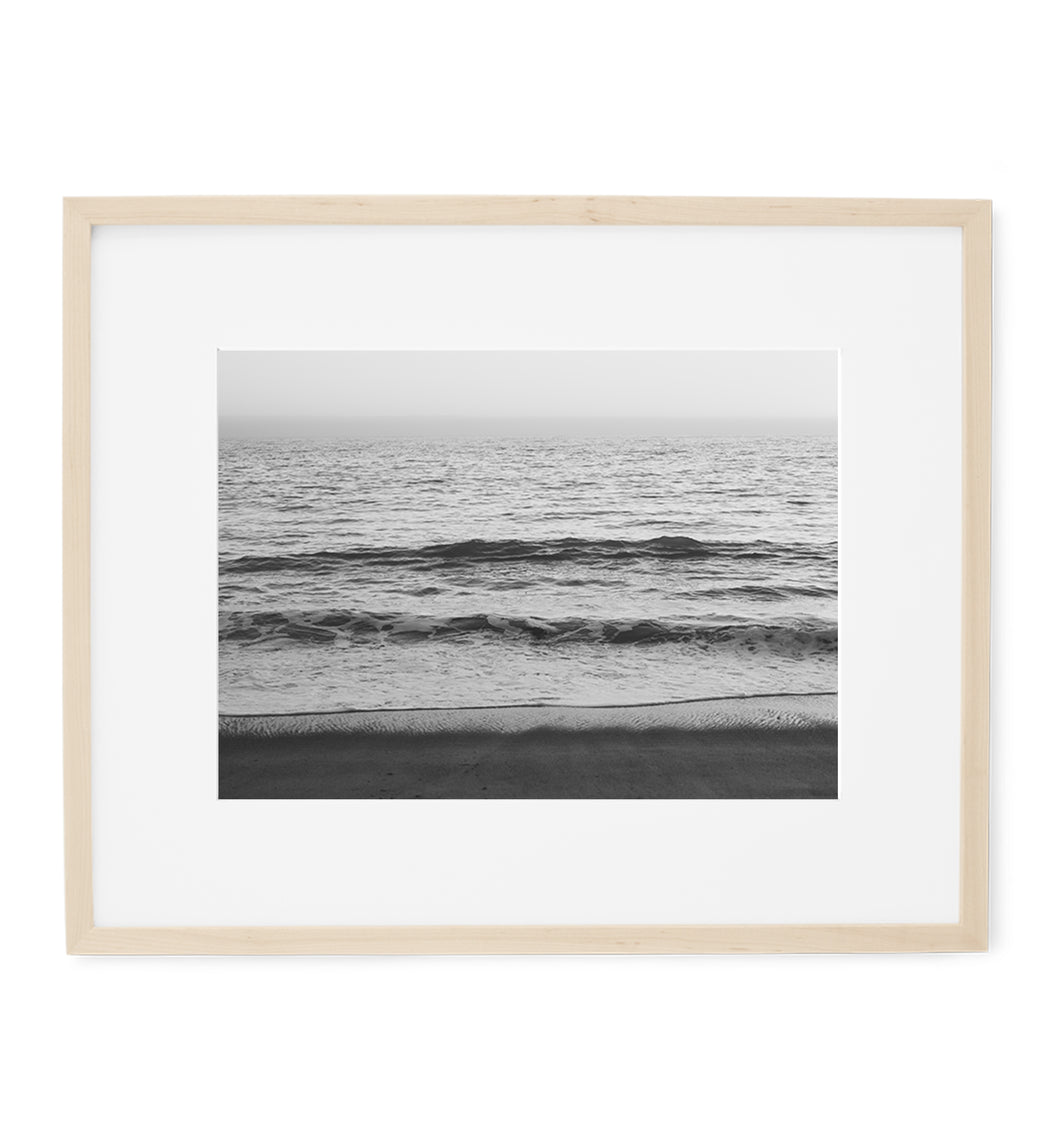 black and white serenity ocean print