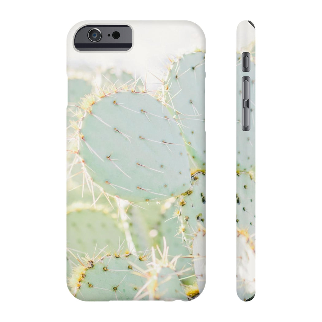 prickly pear cactus cell phone case