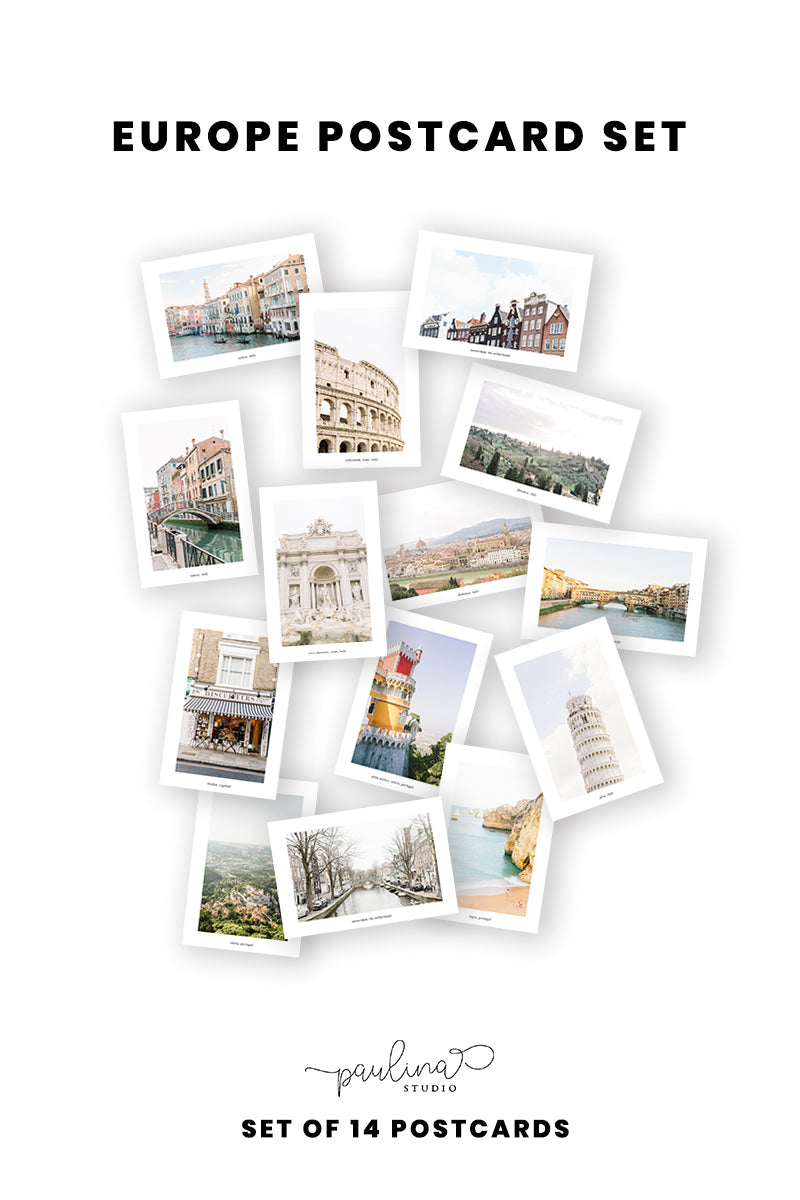 europe postcard set landmarks photography photos