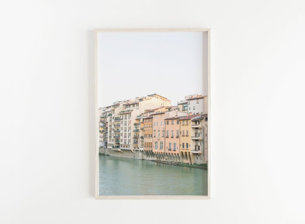 florence italy pastel buildings print