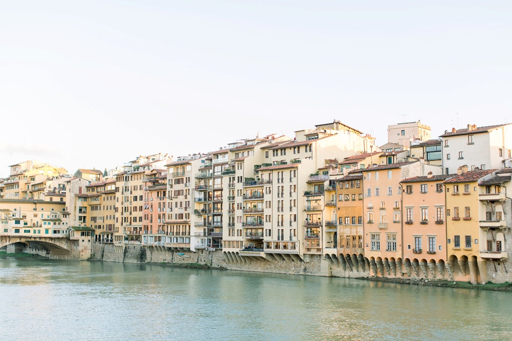 buildings along the arno river in florence