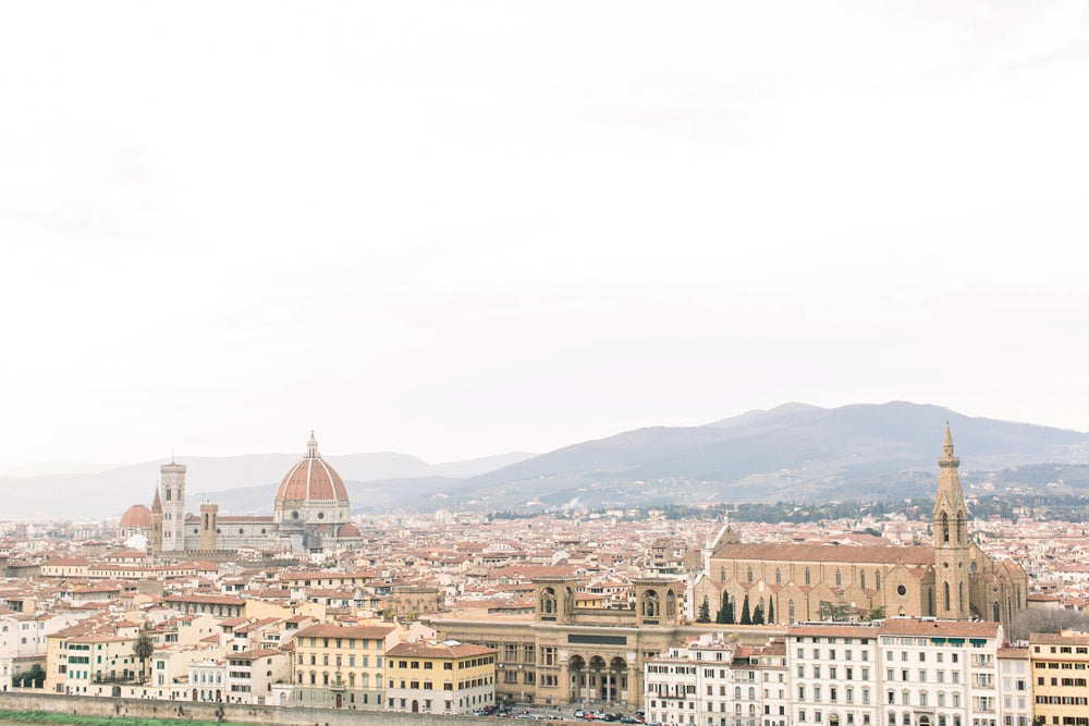 mountaintop view of florence