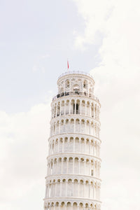 pisa tower print