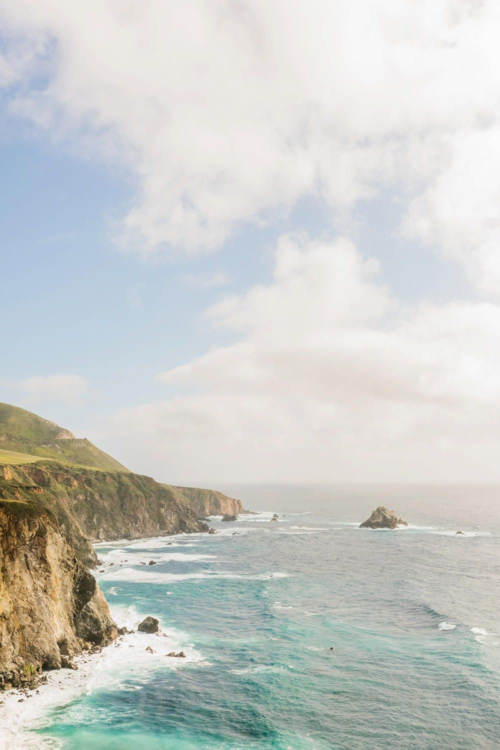 big sur california ocean coastline print
