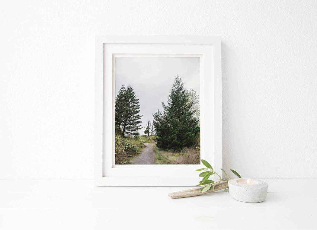 nature print of portland trees