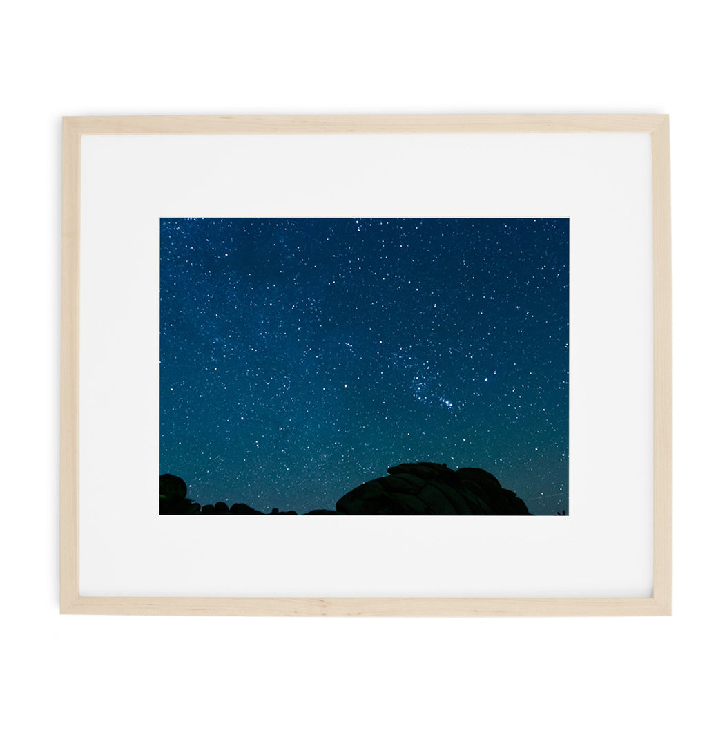 starry night joshua tree sky print