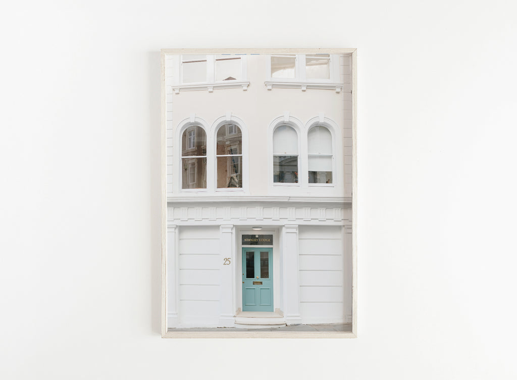 london blue door minimalist print