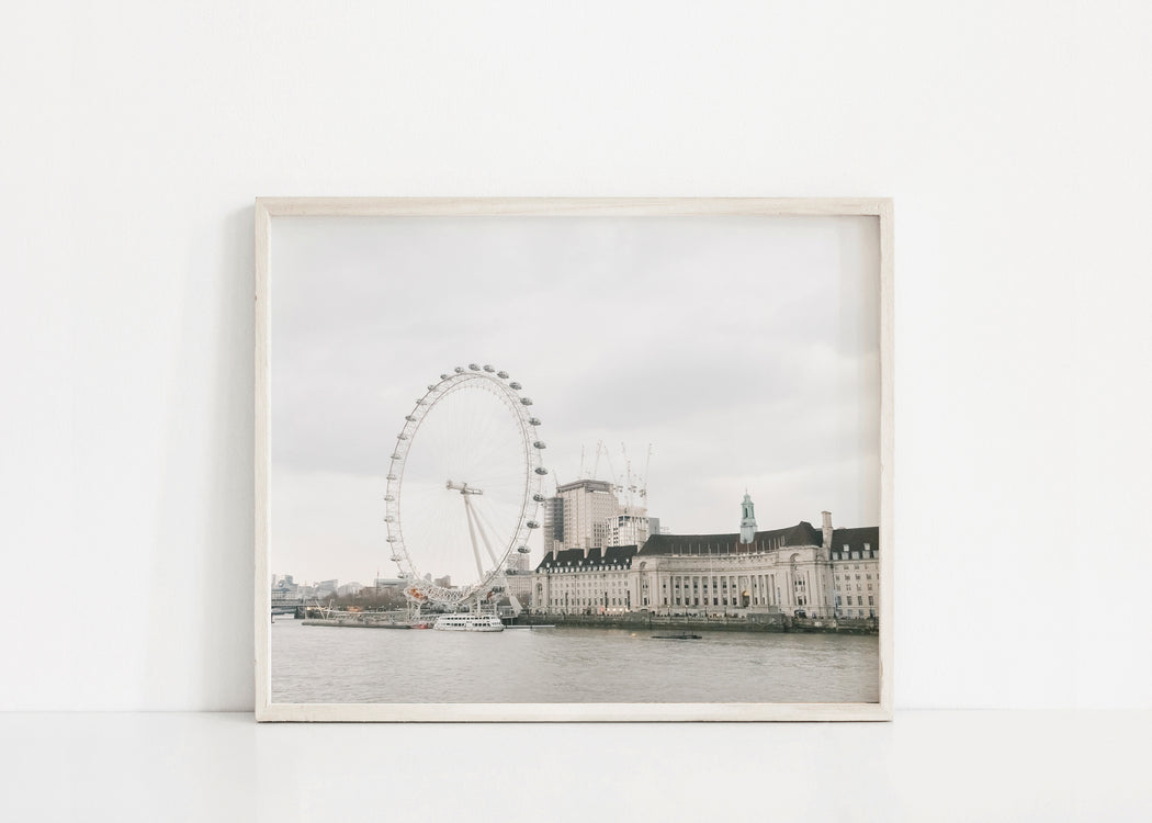 london eye landscape print