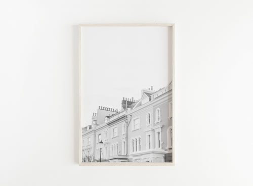 black and white notting hill print