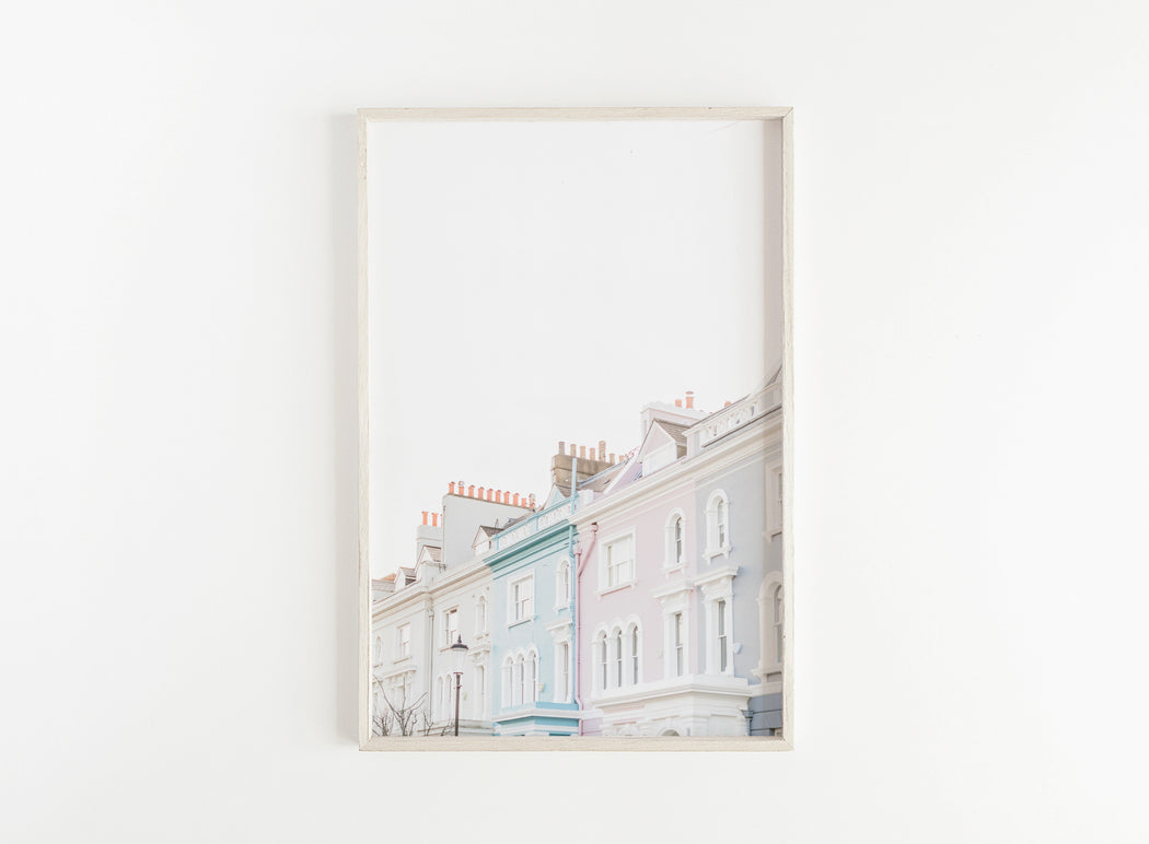 notting hill pastel buildings print