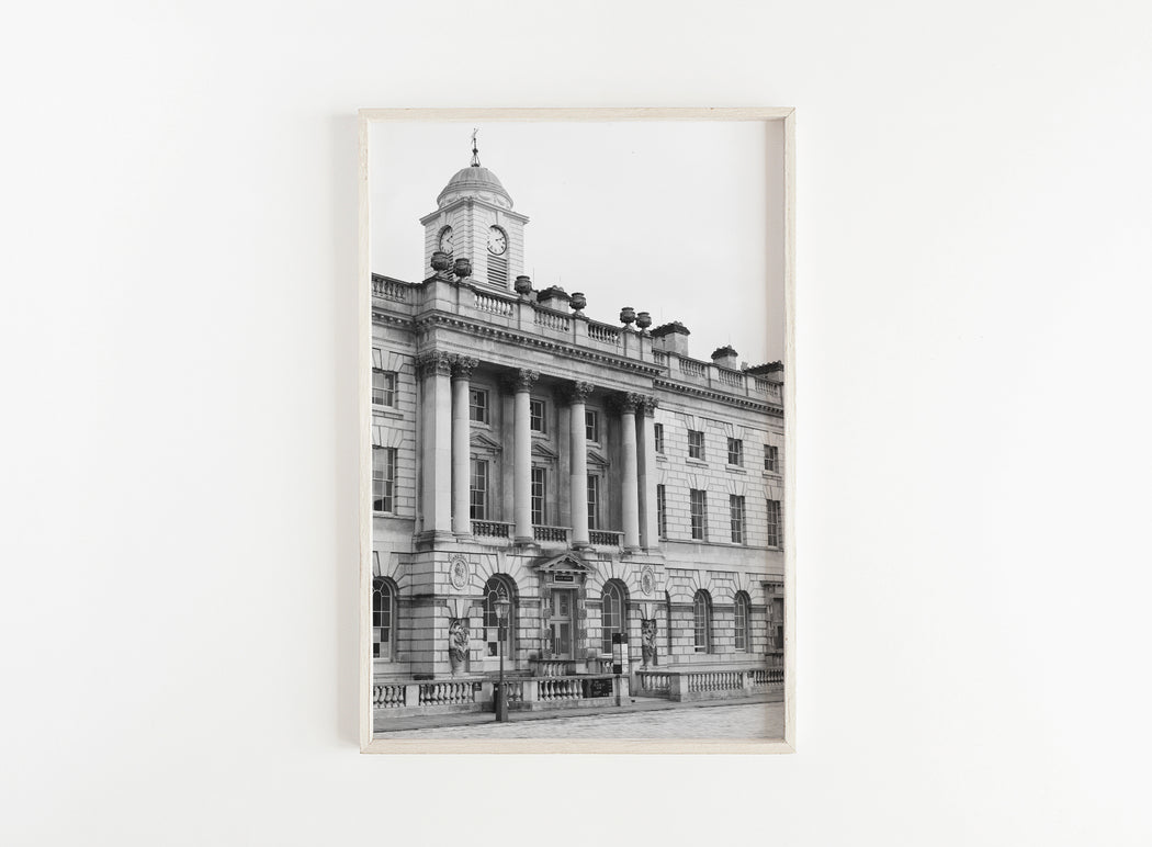 black and white london architecture print