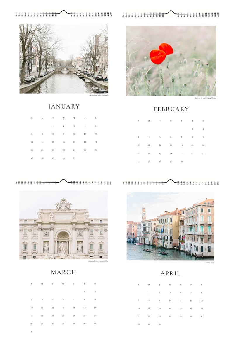 2019 europe travel photography wall calendar gift photo