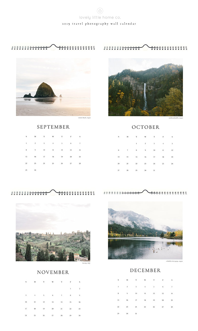 2019 united states landscape photography wall calendar photo