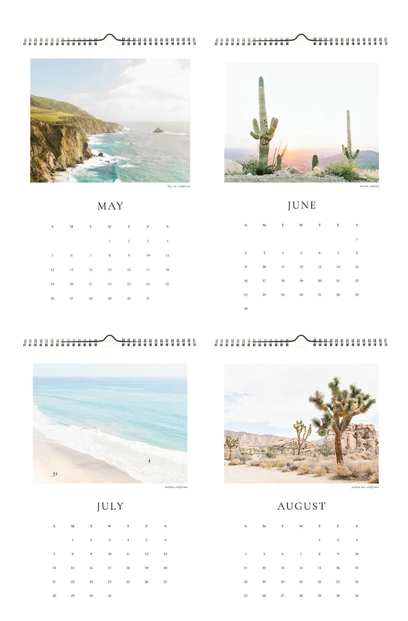 2019 united states landscape travel photography wall calendar gift photo