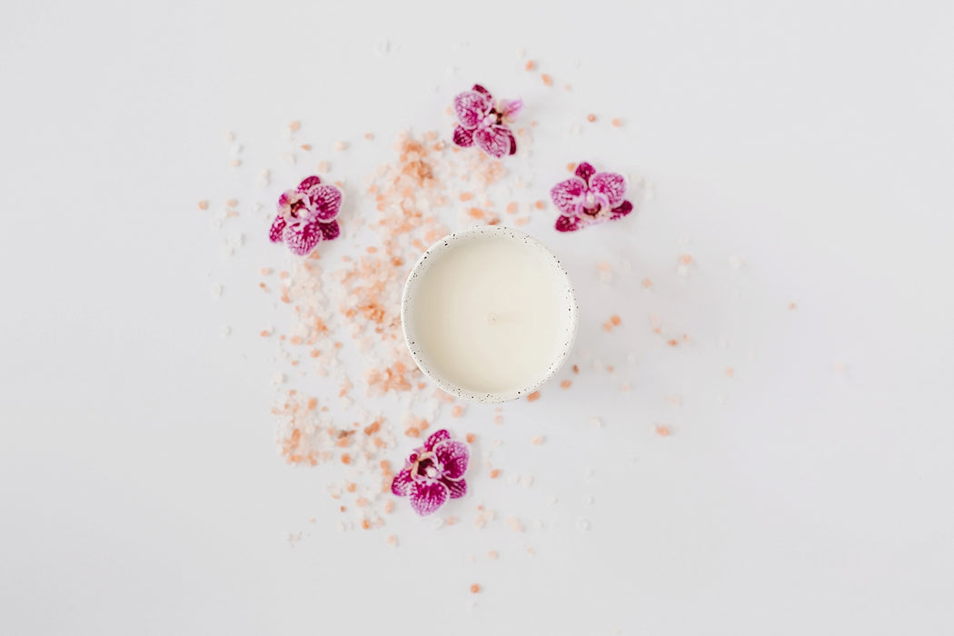 sea salt and desert flower coconut wax minimalist candle lovely little home co photo