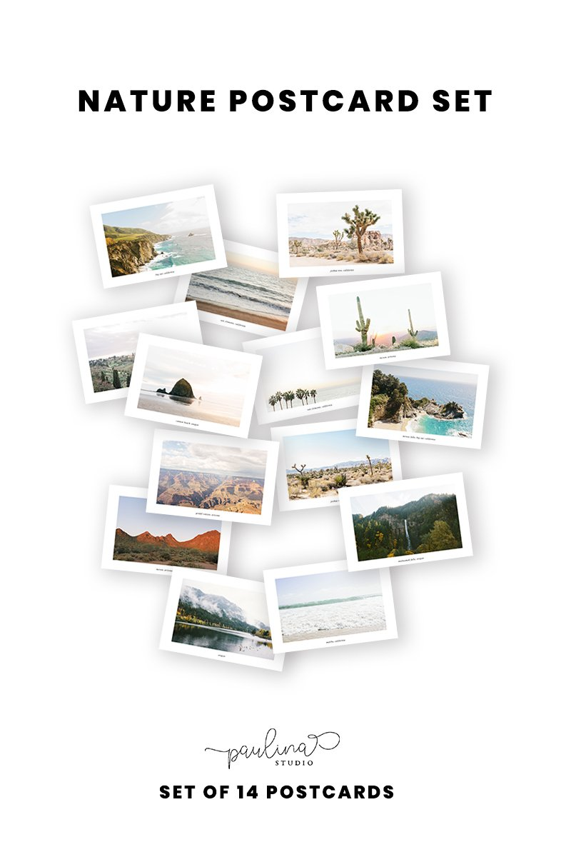 nature landscape photography postcard set