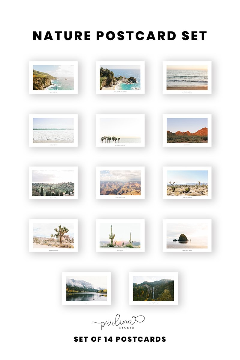 nature landscape photography postcard set photo