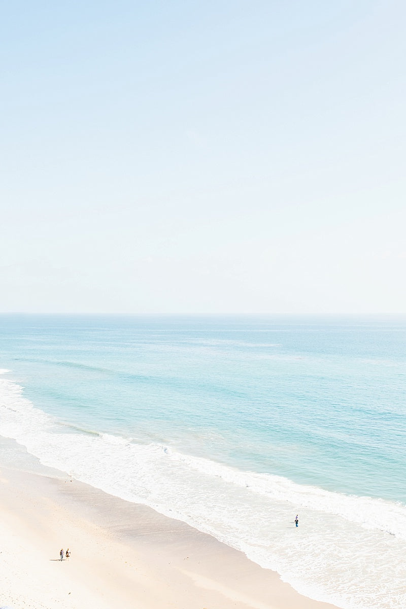 minimalist beach print ocean wall art malibu california waves photo print