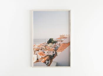 lisbon red rooftops print