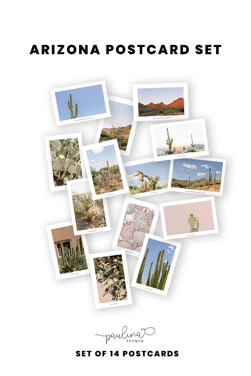 arizona landscape postcard set of 14