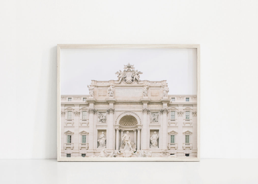 trevi fountain rome print