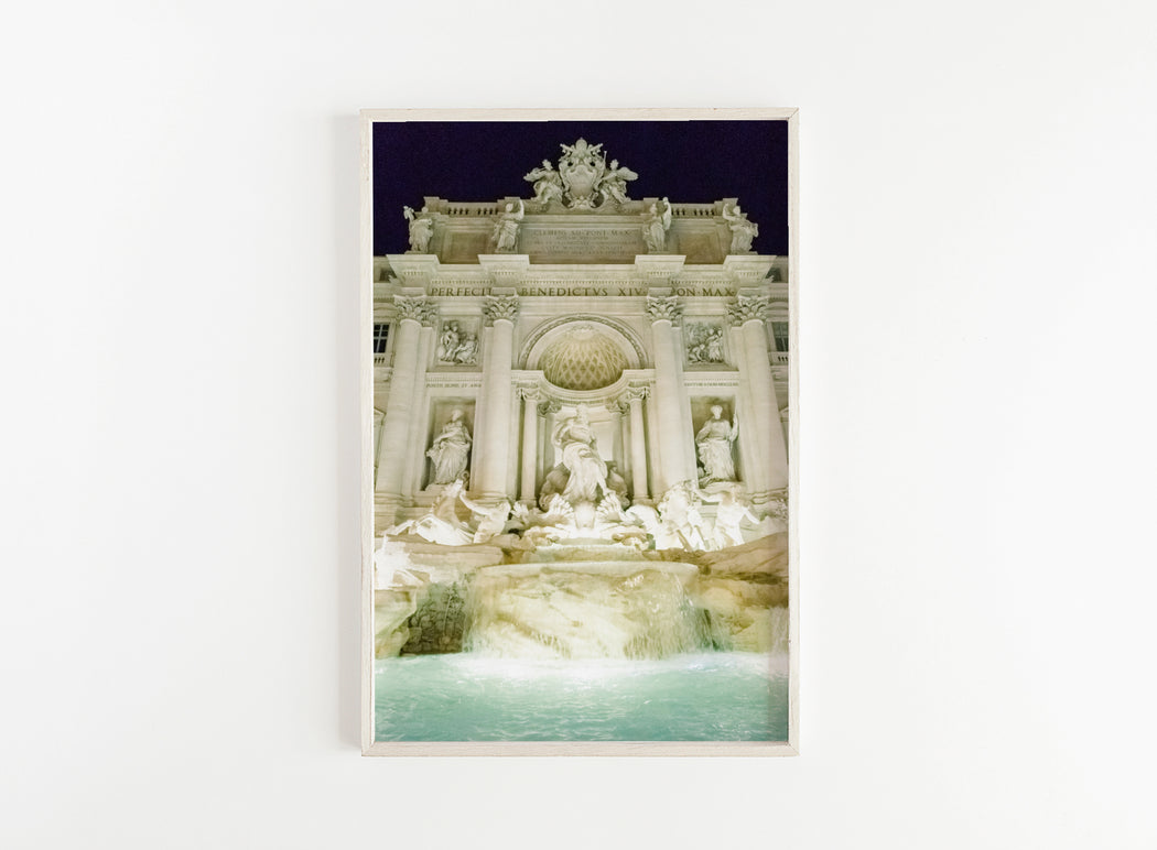 trevi fountain at night print