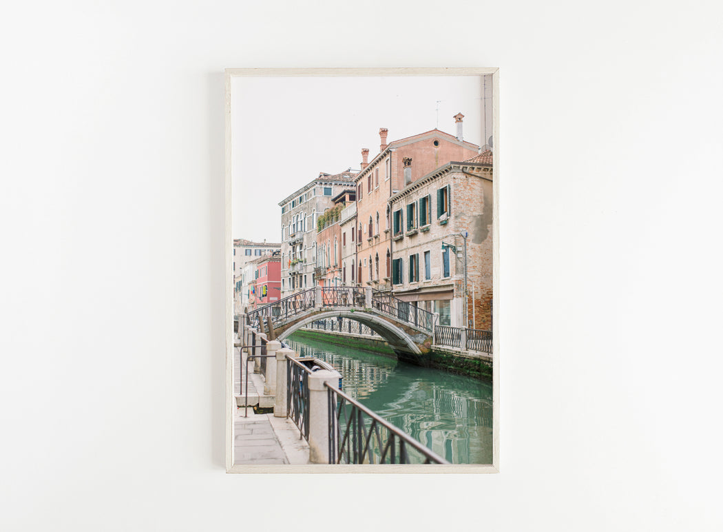 venice bridge over canal print