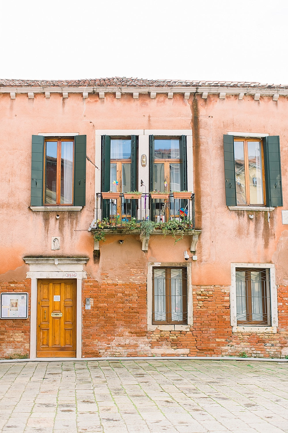 venice italy pink building print