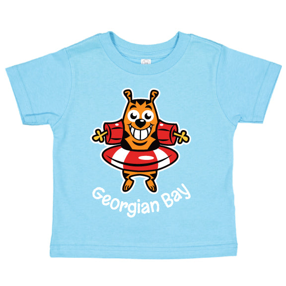 Toddler Fun T-shirts- Cat - Aqua