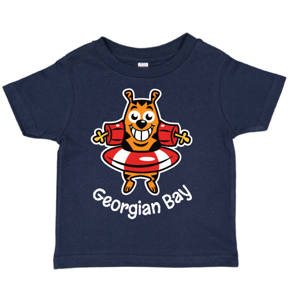 Toddler Fun T-shirts- Cat - Navy