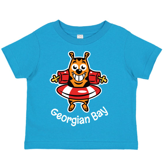 Toddler Fun T-shirts- Cat -Turquoise