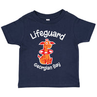 Toddler Fun T-shirts- Giraffe -Navy