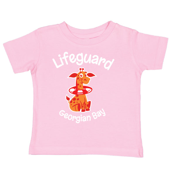 Toddler Fun T-shirts- Giraffe - Pink