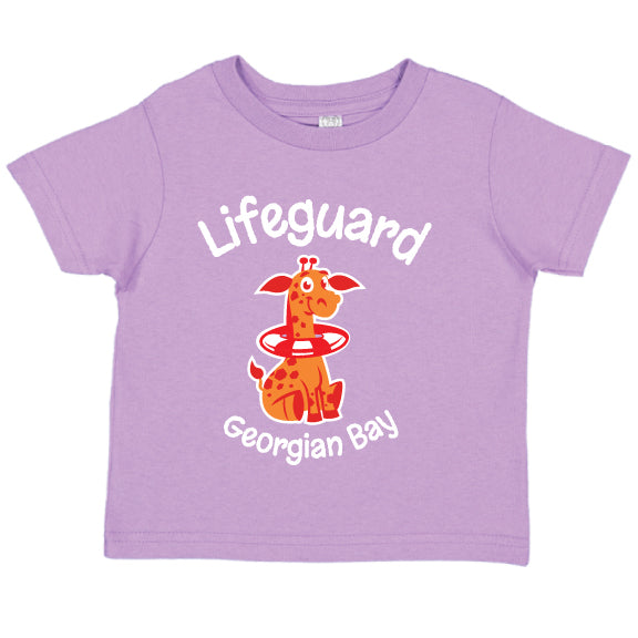 Toddler Fun T- Shirts -Giraffe - Lavander
