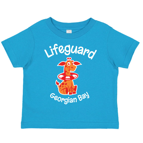 Toddler Fun T-shirts- Giraffe - Turquoise