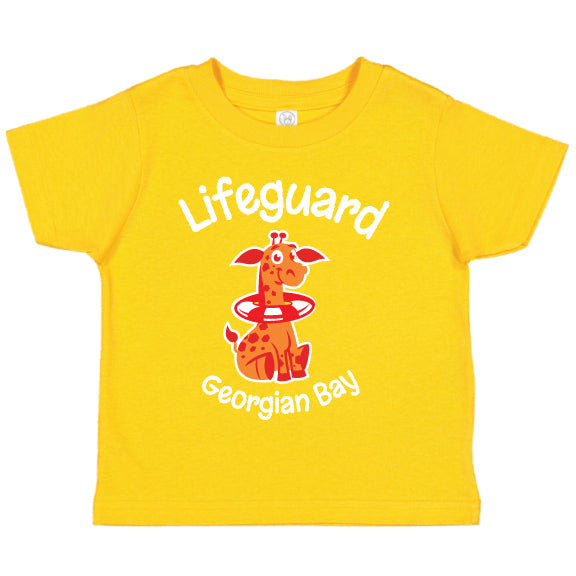 Toddler Fun T-shirts- Giraffe - Gold