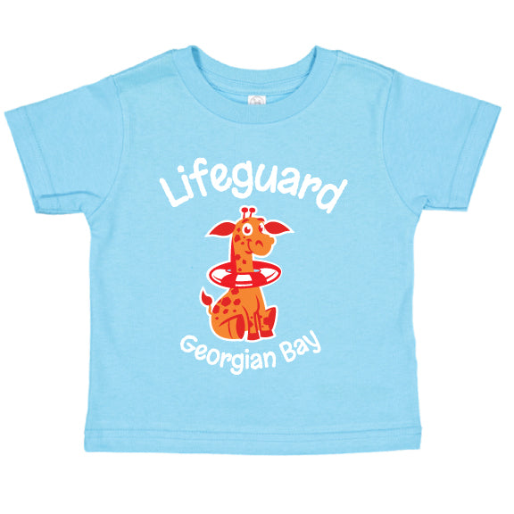 ToddlerFun T-shirts- Giraffe - Aqua