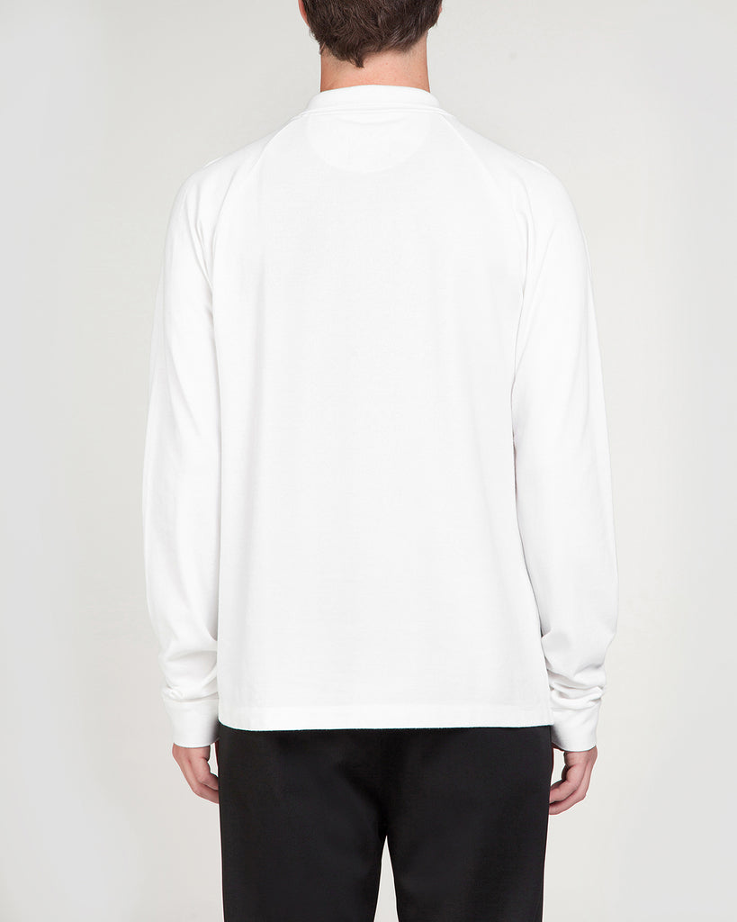 Long sleeve polo white