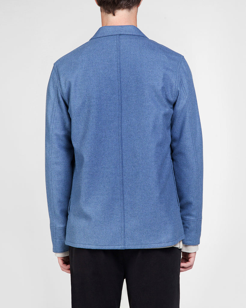 Shetland wool jacket James in blue