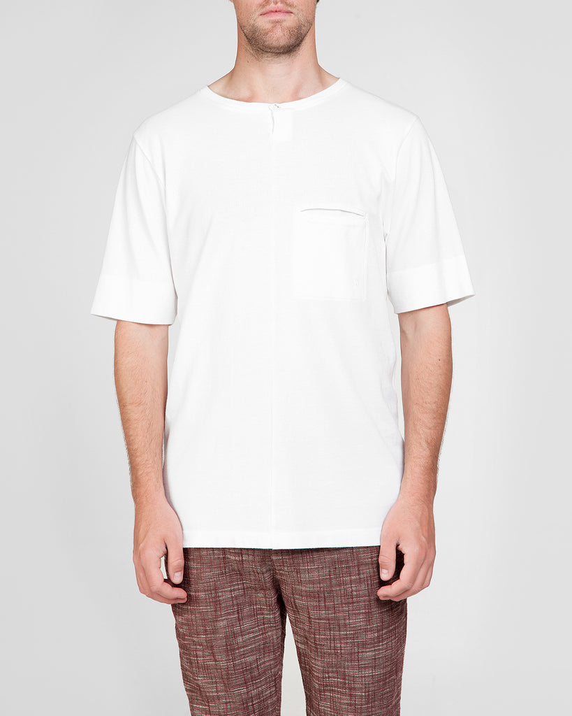 Short Sleeve Shirt White with button