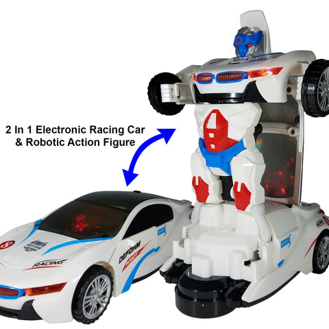 Battery Operated Bump and Go Transforming Toys for Kids