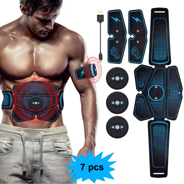 7 PCs  ABS Stimulator Muscle Toner - 6 Pack