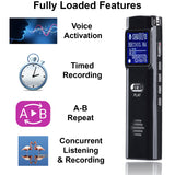 eAnjoy Zinc Alloy 1536 Kbps Digital Voice Recorder