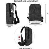 Lightweight and Waterproof Sling Bag/Travel Bag - Black