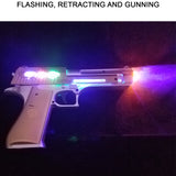 Pretend Play Toy Pistol Gun with Flashing Lights and Sound