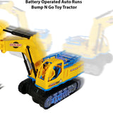 "Battery Operated 6"" x 13"" Tractor Toy Trucks for Boys"