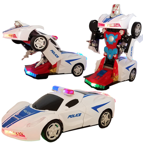 ANJ Kids Battery Operated Bump n' Go Transformer Car