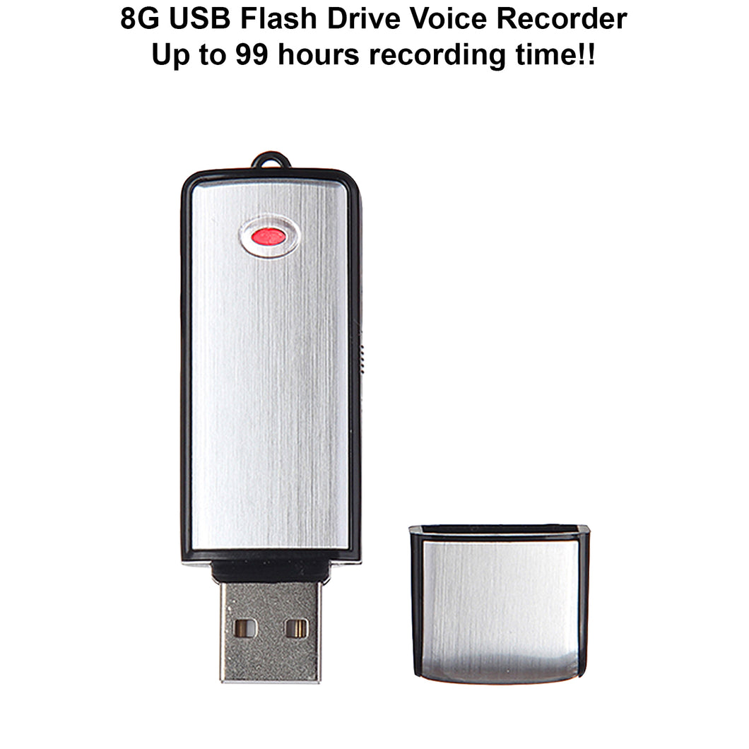 Crystal Clear 8G USB Digital Voice Recorder