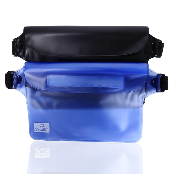 2 PK Waterproof Pouch (Black/Blue)