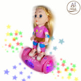 Battery Operated Girl Doll on The Balancing Board